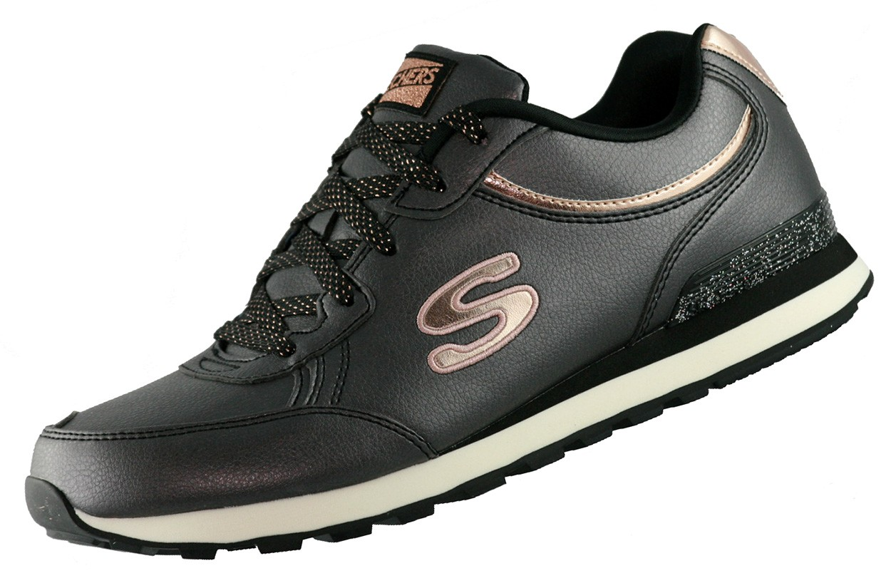 skechers og 82 sneaker 144 schwarz blk memory foam schuhe. Black Bedroom Furniture Sets. Home Design Ideas