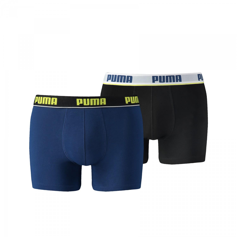puma boxer short 671001001 blau schwarz 2er 021 herren marken puma. Black Bedroom Furniture Sets. Home Design Ideas