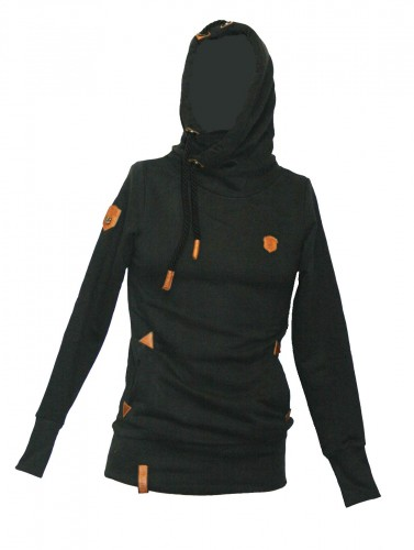 Naketano Darth Long IX Kuputzenpulli 1731-0237-002 Schwarz Damen