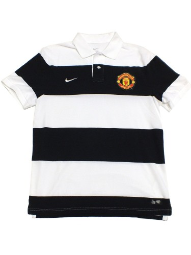 Nike Manchester United Polo Shirt 423953 gestreift 010 Edel