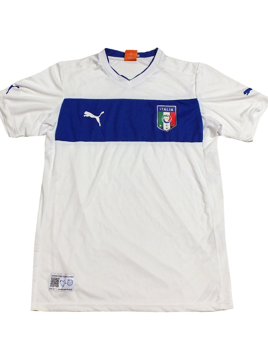 Italia Kids Away Shirt Replica Italien Trikot weiß 740361 02