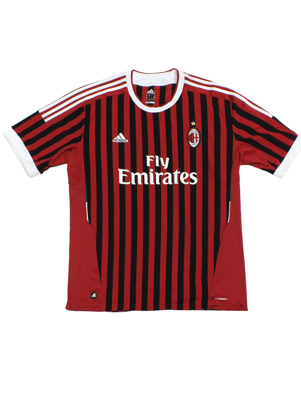 AC Milan TRIKOT V13457 Schwarz Rot Mailand
