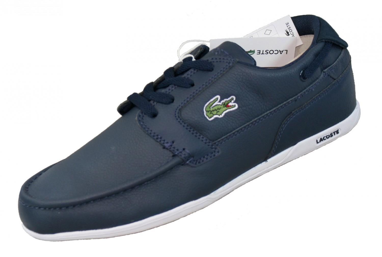lacoste dreyfus blau 728spm0001db4 leder schuhe sneaker schuhe herren sneakers. Black Bedroom Furniture Sets. Home Design Ideas