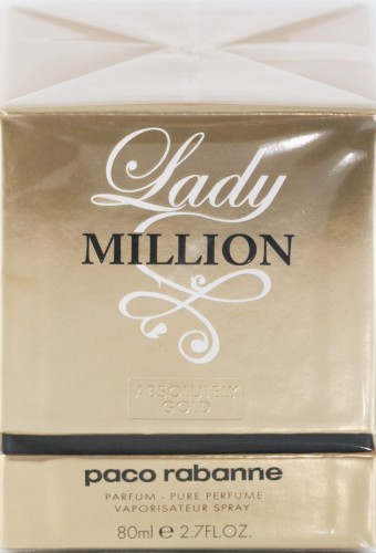 Paco Rabanne Lady Million Absolutely Gold 80 ml Pure Parfum Spray