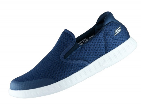 Skechers On the Go Glide 53780 Navy NVGY Sneaker Goga Max